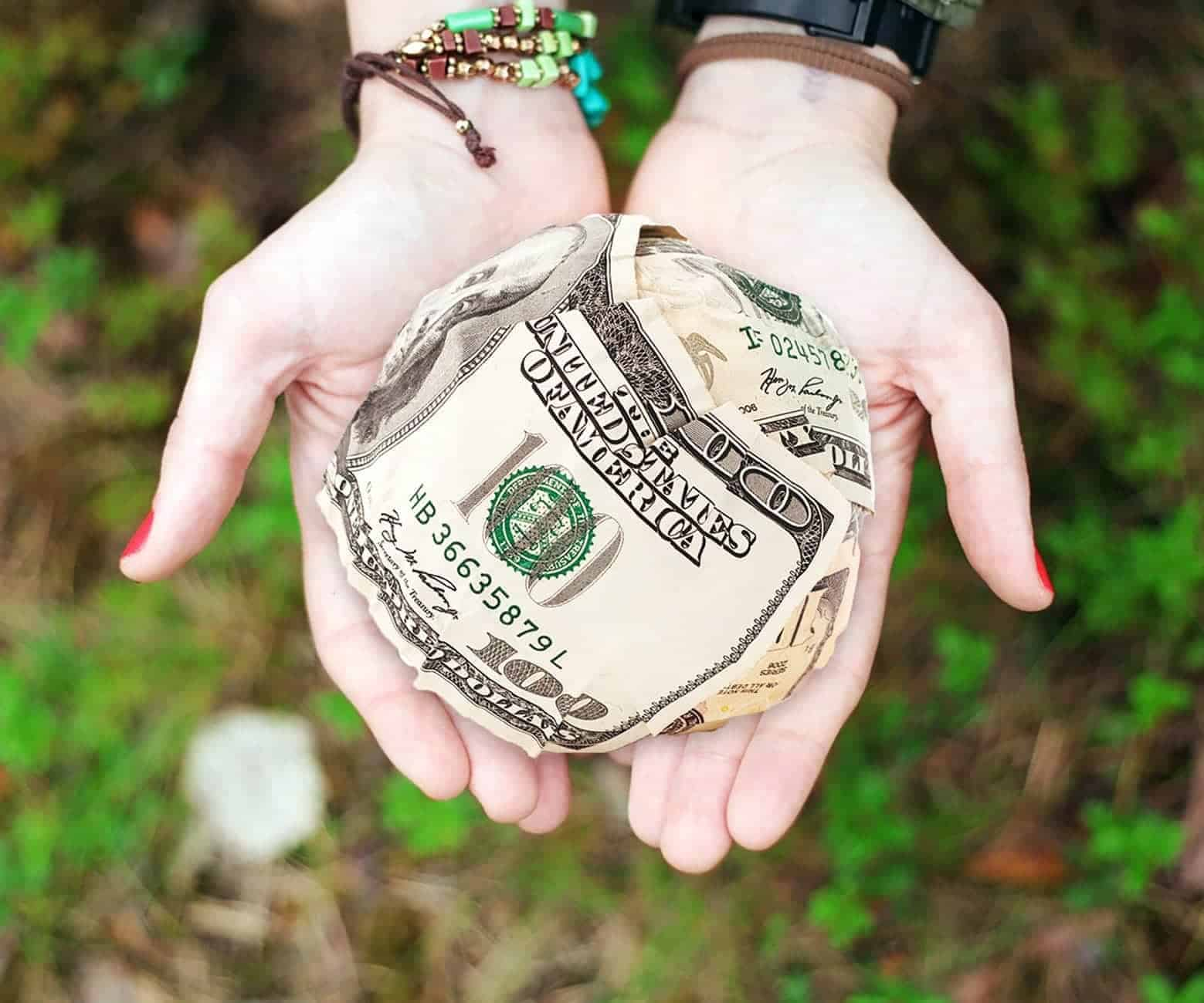 3-6 months of savings in cash