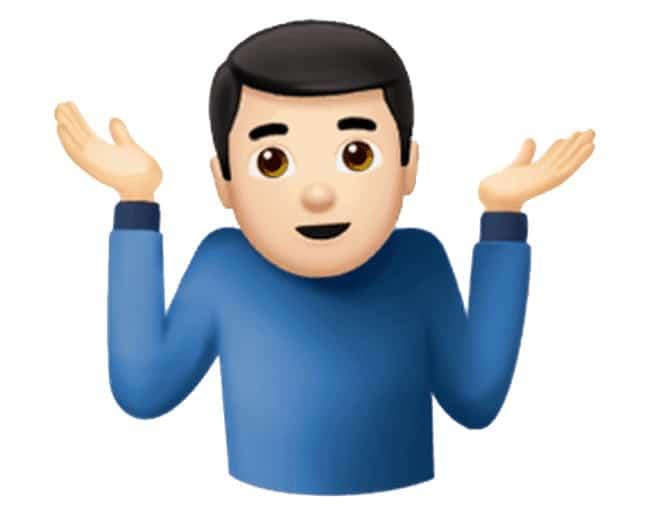 shrug emoji, ask bad questions