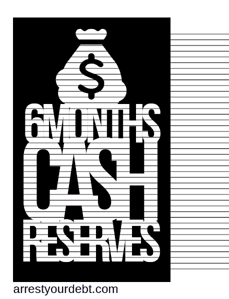 6monthscolor2 1 6 Months Cash Reserves Coloring Page