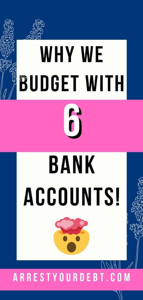 Budget with 6 bank accounts, pin me pinterest