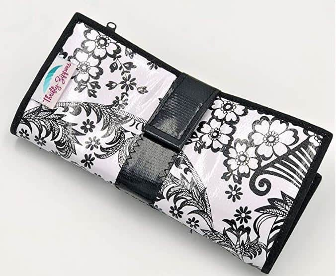 oilcloth envelope system wallet by thrifty zippers