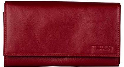 Finelaer leather clutch purse cash envelope wallet