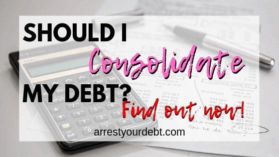Should I consolidate my debt?