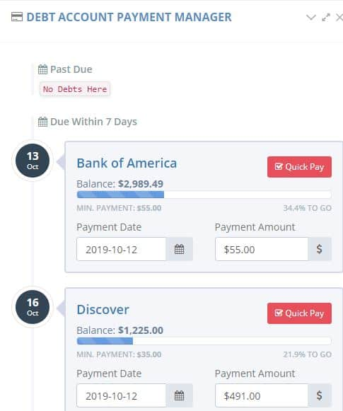 upcoming debt payments