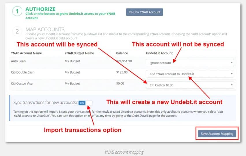 ynab integration with undebt.it