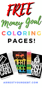 free FREE Money Goal Coloring Pages!