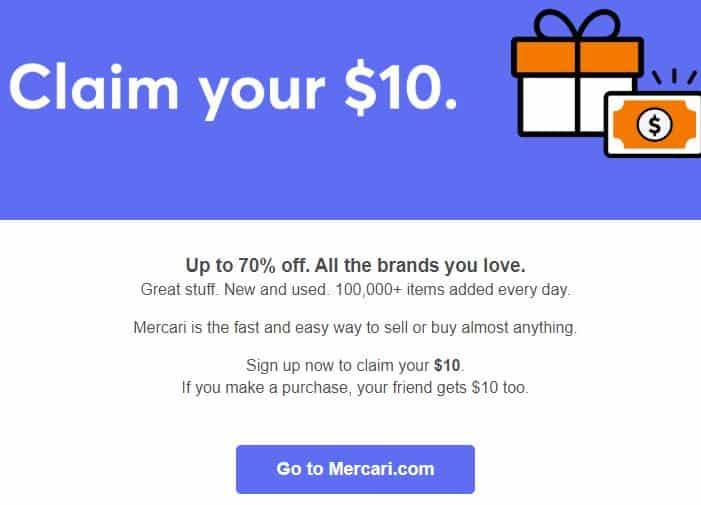 free $10 on mercari