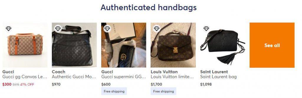 mercari authentic handbags