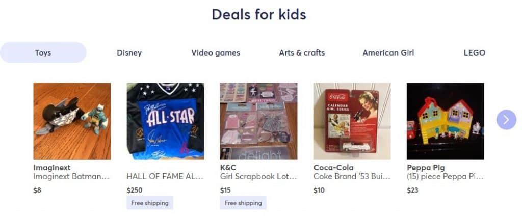 mercari deals for the kids