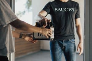 saucey food delivery job