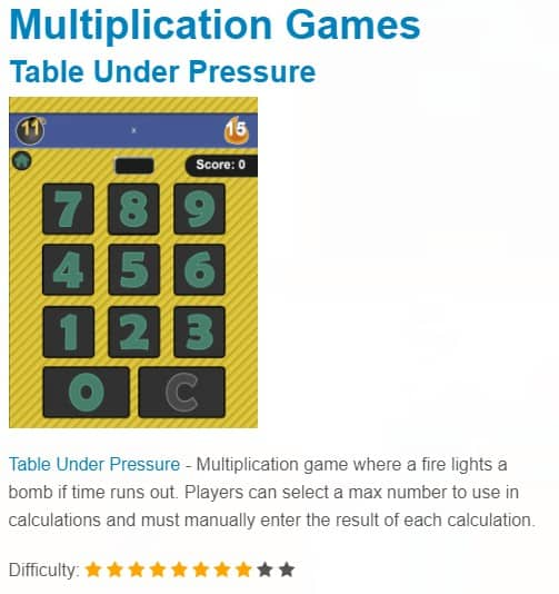 multiplication games to help kids learn math and have fun