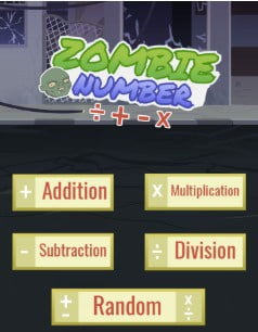 free online math game for kids zombie hunter