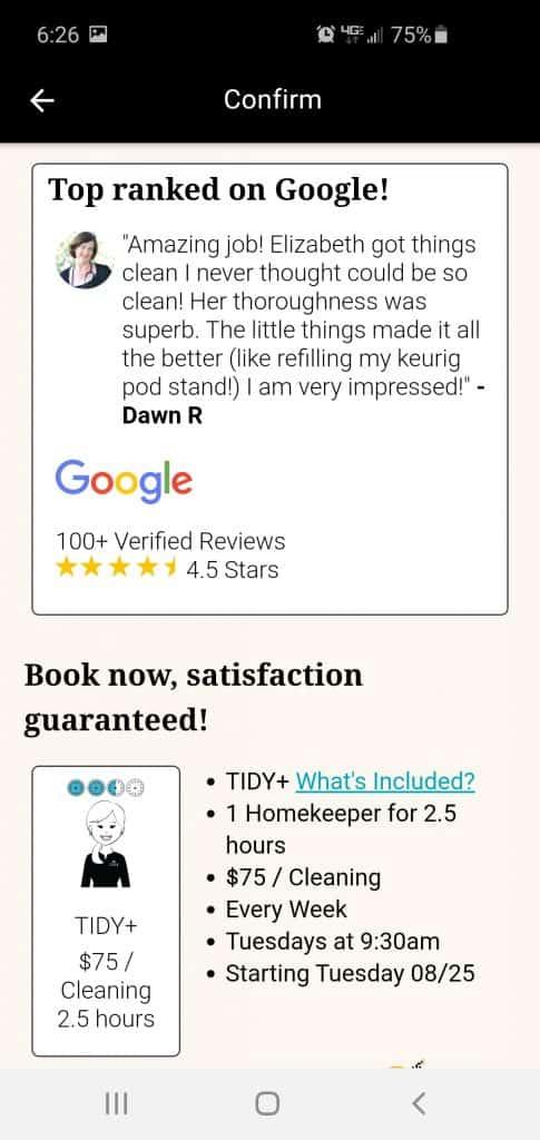 tidy homekeeper review