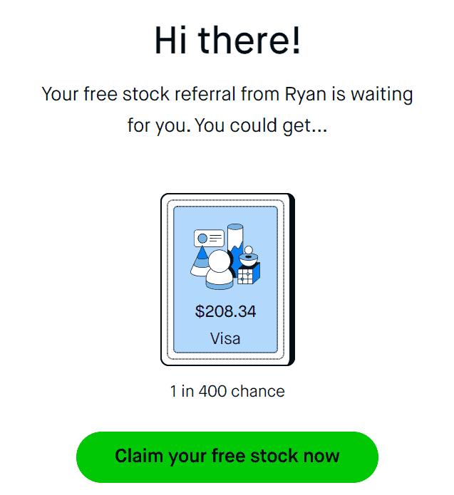 robinhoood free stock