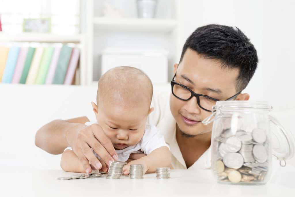 counting money with a toddler