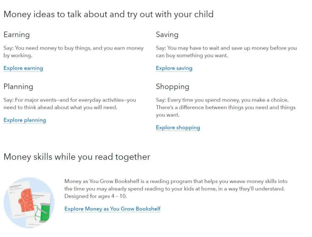 money ideas to talk about with kids