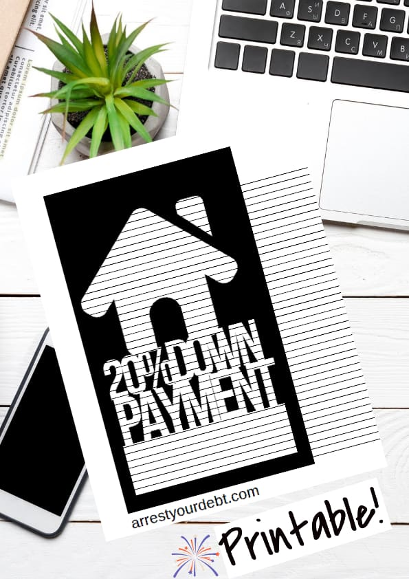 20 percent down payment coloring page