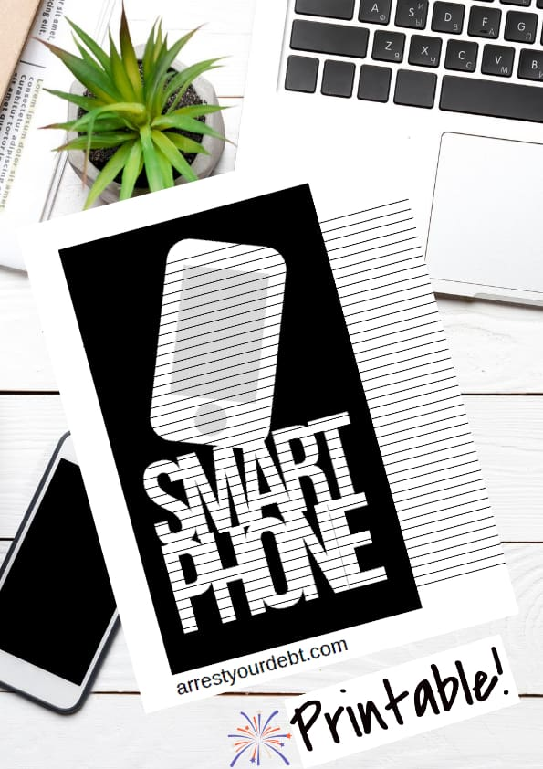 smart phone coloring page
