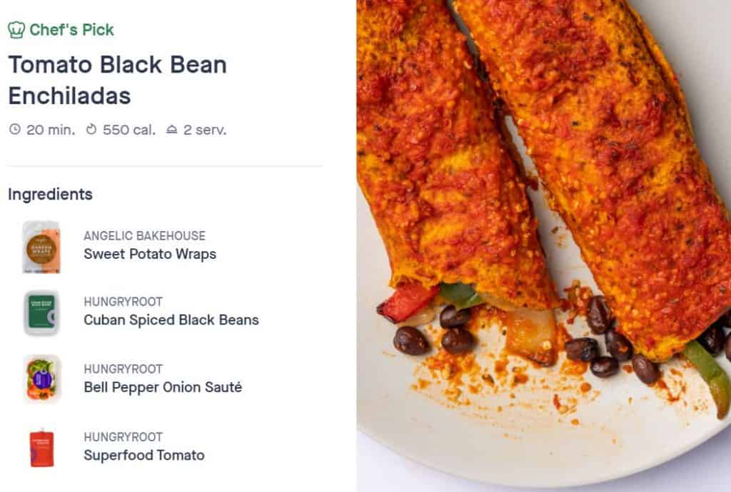 tomato black bean enchiladas Hungryroot Review: Our Experience And Recommendation