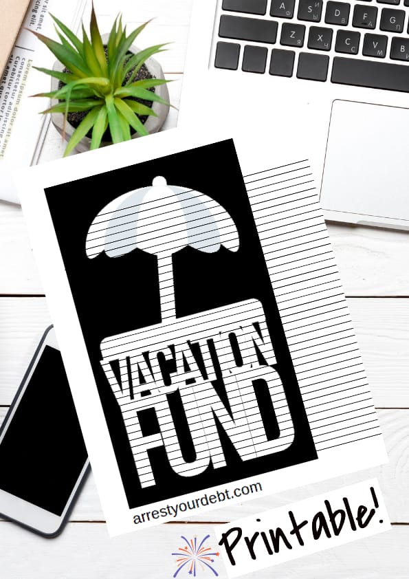 vacation fund coloring page