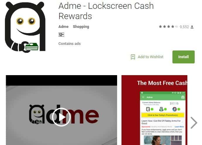 adme money lockscreen