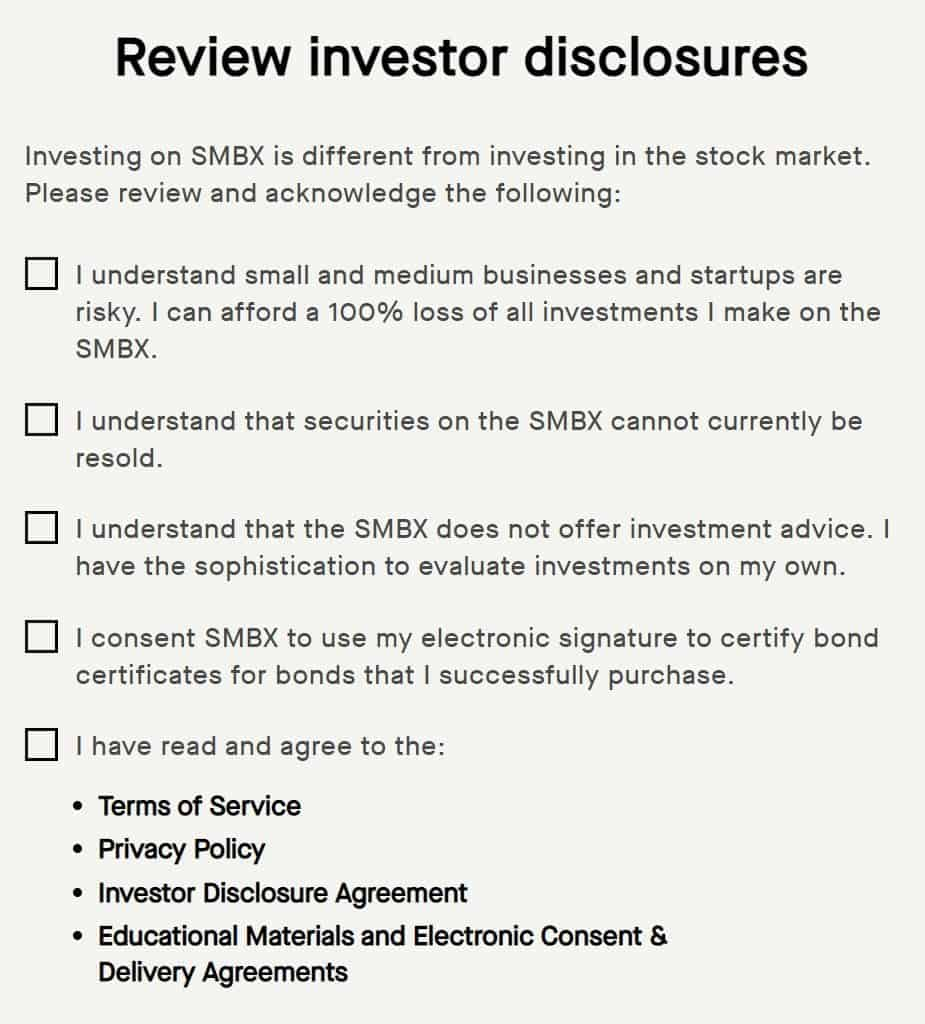 investor disclosures and agreements