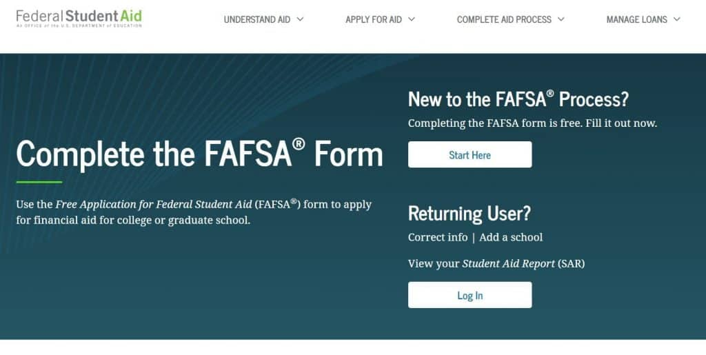 free application for federal student aid, fafsa, to get paid to go to school