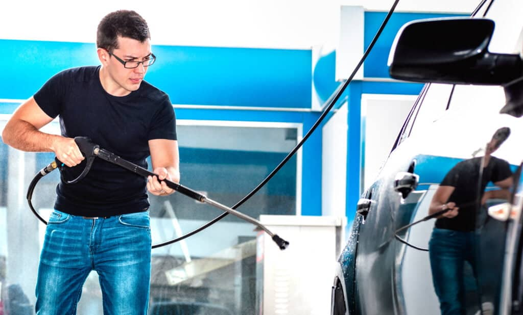 man with a business in pressure washing How To Start A Pressure Washing Business