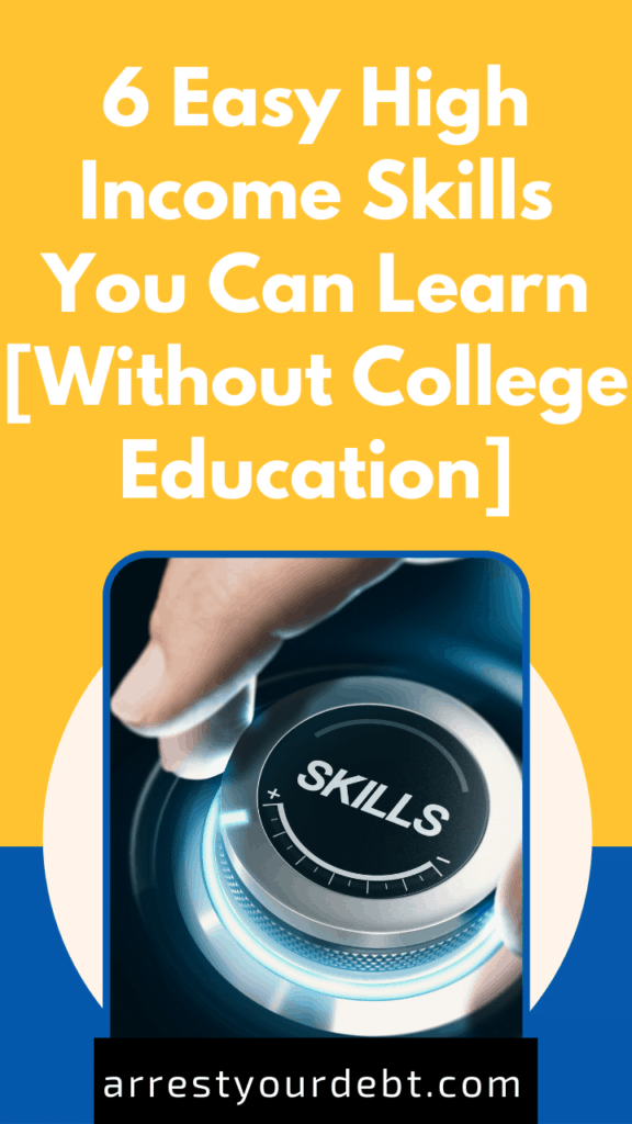 6 Easy High Income Skills You Can Learn Without College Education cover image Stories