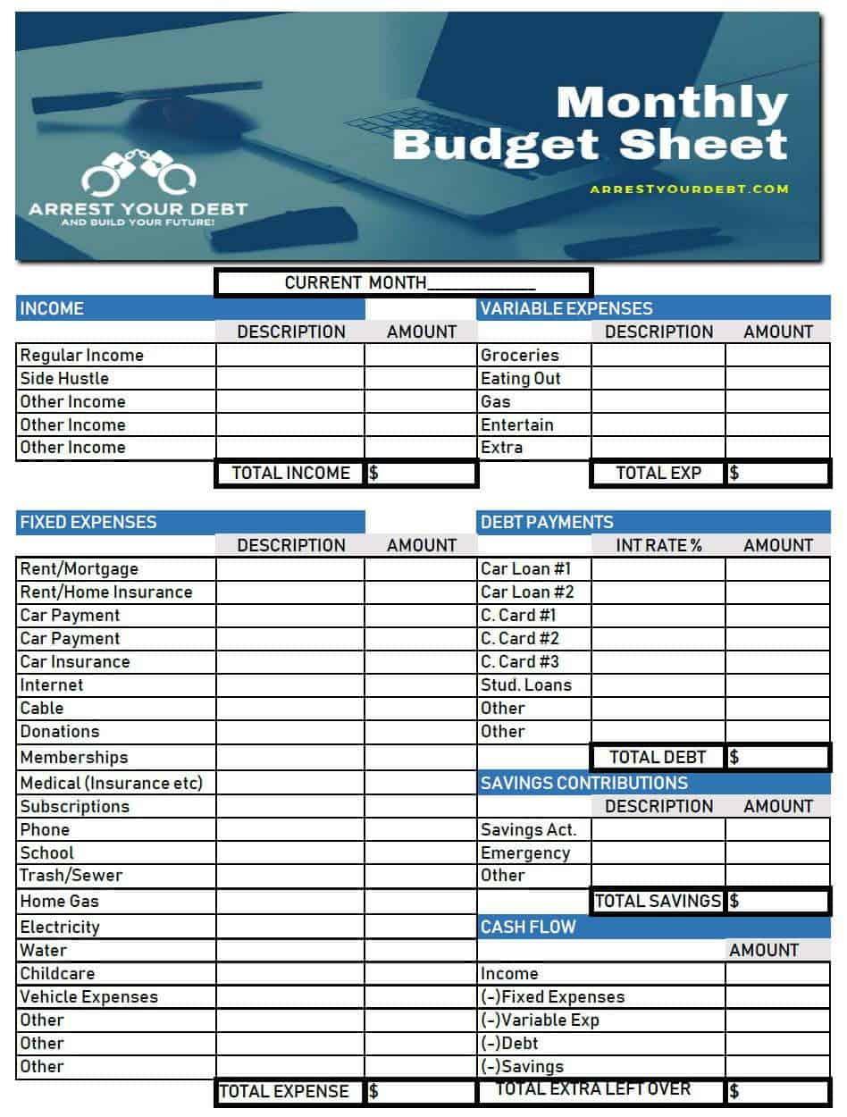 budget sheet download Budget Template Freebie