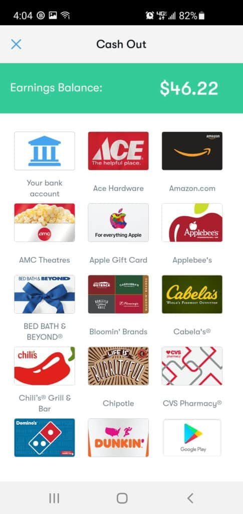 current getupside giftcards