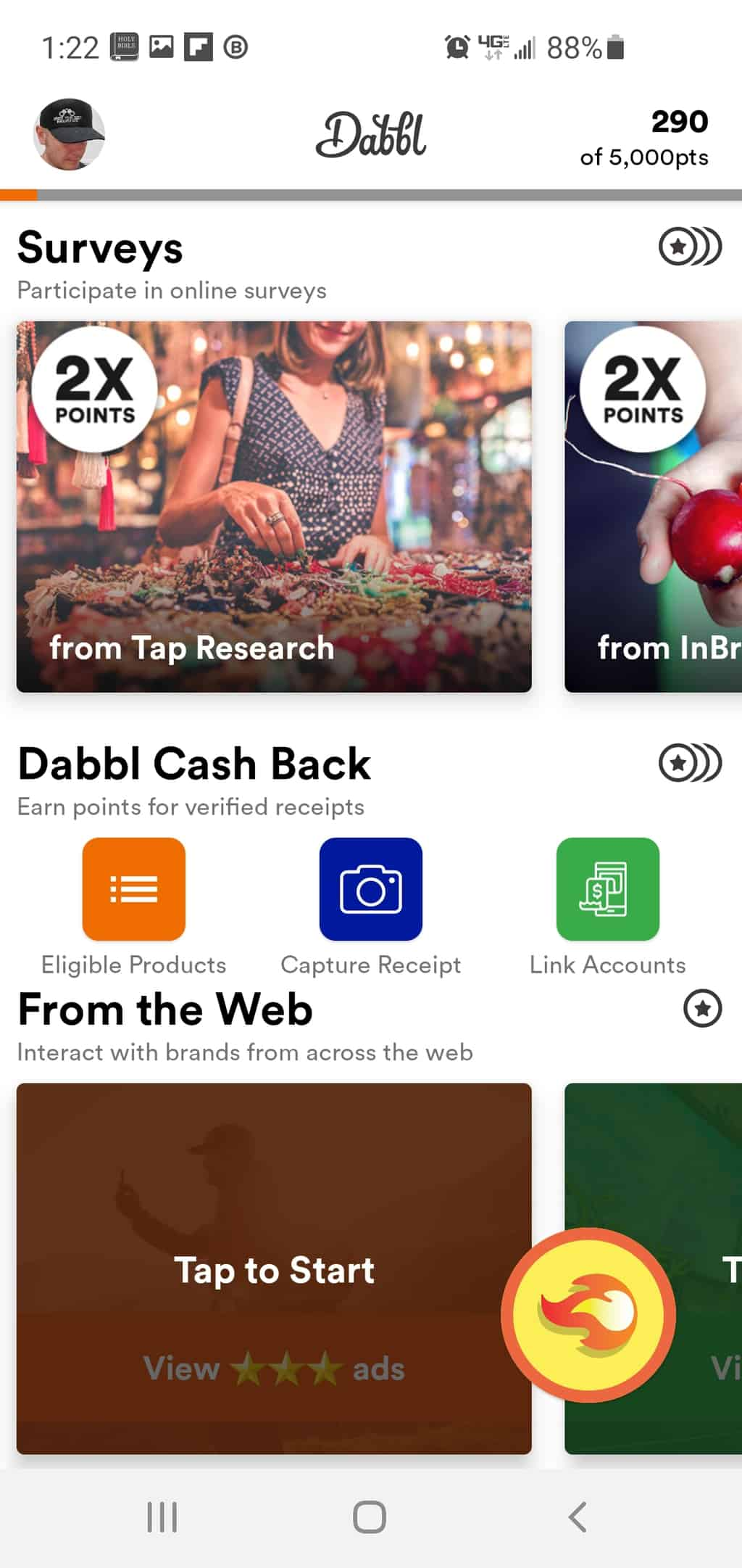 account dashboard dabbl review
