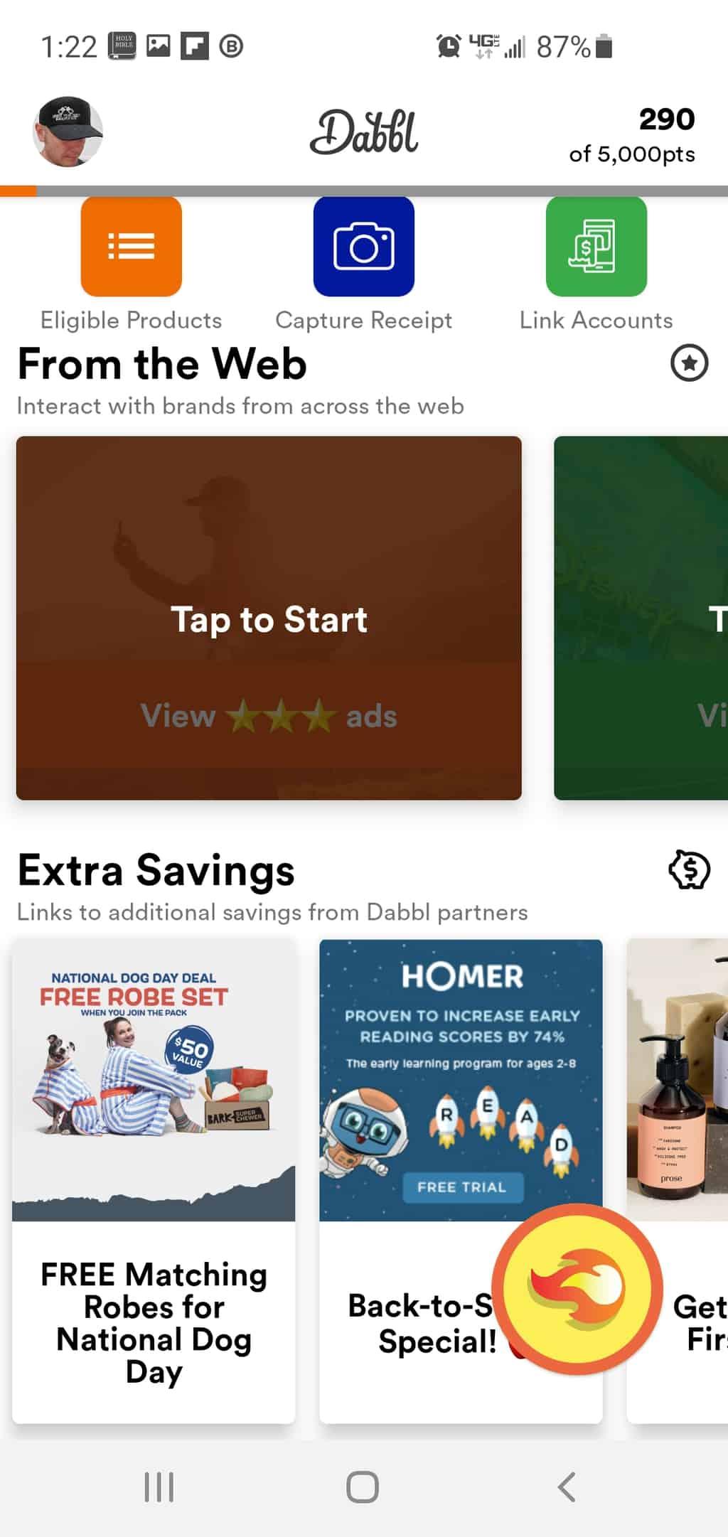 dabbl offers rewards